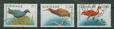 Suriname Briefmarken 1985 Vögel Mi 1146 bis 1148