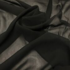 """Silk Georgette Chiffon Fabric Solid 100% Silk 10mm 44"""" wide Sold BTY Many Colors"""