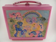 My Little Pony Lunchbox with Thermos Purple Pink Plastic 1980s Hasbro Aladdin