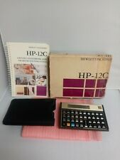 HP 12C Financial Calculator Hewlett Packard Includes Manual and Case