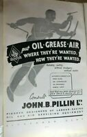 1944 WW2 John B Pillin Aircraft Grease Guns  full page Advert Original 32x19 cm