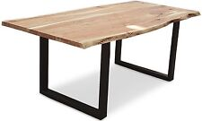 Luisine 2 Metre Wooden Dining Table - Comfortably seats 8 - Available now
