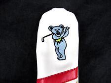 Sunfish Leather Hybrid / Utility Golf Headcover - Grateful Dead Dancing Bears