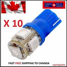 10X T10 Blue 194 168 2825 5050 5SMD LED Bright Car Lights Lamp Bulb Peanut HID