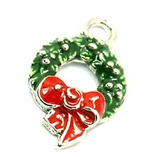 5 pieces Christmas Ring Zinc Alloy Charm Pendants - A0852
