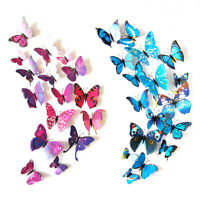 24 pcs 3D Butterfly Wall Stickers Art Decal Home Room Decorations Decor Kids