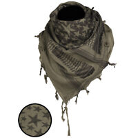 Stars Shemagh Military Army Tactical Neck Arab Scarf Scrim Headscarf OD Green