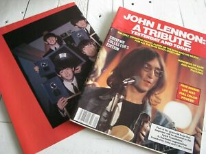 JOHN LENNON A TRIBUTE YESTERDAY & TODAY DEC 1980 COLLECTORS EDITION MAGAZINE