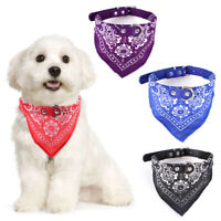 Pet Dog Adjustable Leather Collar Printed Triangle Neck Scarf Bib Neckerchief
