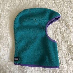 Vtg Patagonia mask Balaclava fleece synchilla Winter Hat face mask Retro Green