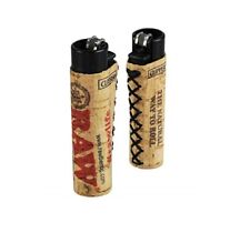 1 Ct CLIPPER Flint Lighter Refillable Adjustable RAW CORK COVER HAND SEWN sleeve