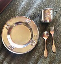 SELANDIA Stainless Steel Baby Bear Dinner Set 4 pc.