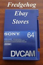 HIGH QUALITY CASSETTE TAPE FROM SONY- PDV-64N FOR FULL SIZE DVCAM (Not Mini DV)