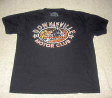 Mens Downieville Motor Club Motorcycle Ring Of Fire T Shirt Tee Black Size XL