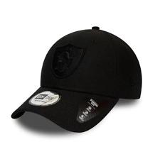 New Era 9FORTY NFL Oakland Raiders Mono Black Snapback Curved Peak Baseball Cap