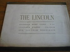 LOVELY LINCOLN V12 STANDARD BODY TYPES PRESTIGE CAR BROCHURE 1934.jm