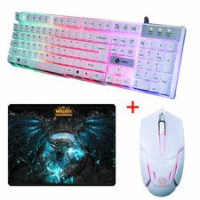 New USB LED Backlight Gamer Gaming Keyboard Mouse Set Illuminated For PC Laptop