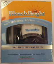 BLEACH BRIGHT BLEACHBRIGHT TEETH WHITENING WHITENER SYSTEM KIT UV LIGHT TANNING