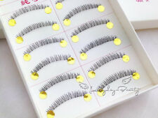 10 Pairs  Natural Under False Eyelashes Bottom Lower Eye lashes Handmade #87