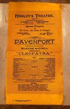 "Antique Hooley's Theatre Chicago Souvenir Program "" Cleopatra"" for Duke Veragua"