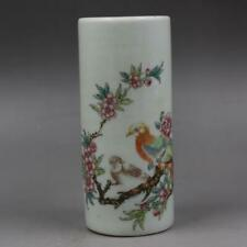 Chinese ancient antique hand make Flower and Bird Patterns Pen container
