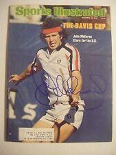 JOHN McENROE signed 1978 Sports Illustrated tennis magazine Autographed AUTO SI