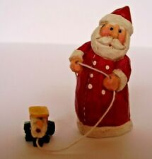 Santa Claus Figurine Pulling Toy Car Midwest of Cannon Falls