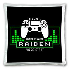 Personalised Gamer Cushion Cover Kids Custom Gift Sofa Pillow Case. Super Soft