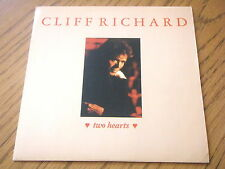 "CLIFF RICHARD - TWO HEARTS  7"" VINYL PS"