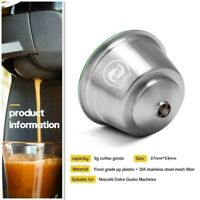 304 Stainless Steel Refillable Coffee Pod Capsule for Gusto Dolce Machine