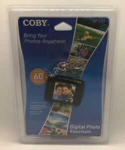 Coby 1.5-Inch Digital Photo Key Chain Black DP151 LCD Full-Color Display NEW