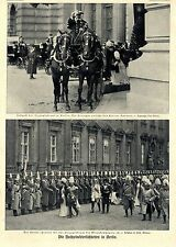 Hochzeit in Berlin Kaiser u. Herzoginbraut schreiten Ehrenkompagnie ab Bildd1906