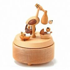 Newborn Baby Music Box with Stork baby shower presents gifts birthday kids