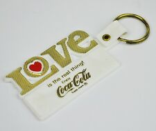 Coca-Cola USA Key Chain White Key Chain Love Is The Real Thing Heart