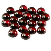 Wholesale Lot of 4mm Round Cabochon Natural Garnet Loose Calibrated Gemstone