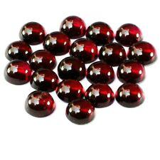 Wholesale Lot of 4mm Round Cabochon Natural Garnet Loose Calibrated Gemstone