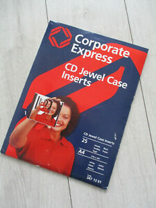 NEU Corporate Express CD Jewel case inserts Einleger Cover CD-Einleger
