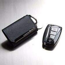 Leather Smart Key Holder Case Cover For Hyundai New Genesis Sedan 2015~2016+