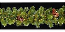 Led Xmas Garland Christmas Lights 220 Warm White Bulbs Decoration