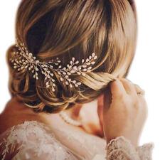Hot sale!Bride Handmade Pearl Hair Comb White Pearls Decor Wedding Headdress