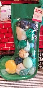 Boots & Barkley Cat Toys Holiday Christmas Stocking 10-Toy-Pack Green