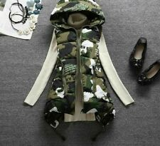 Ladies Hooded Collars Outwears Padded Vest Polyester Autumn And Winters Clothing