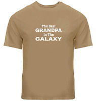 Grandpa Gift Shirts Unisex Mens Crew Neck T-Shirt The Best Grandpa in the Galaxy