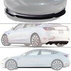 Fits 17-21 Tesla Model 3 Front Bumper Lip & Side Skirt & Diffuser - Black