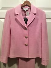NWT Orig $995 St. John Collection Perfect Pink 6 Pant Suit