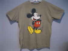 New Men's Mickey Mouse T-Shirt Disney Olive Green Heather Large