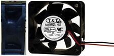 """60mm*25mm T&T 6025M12S-ND3 12VDC/12V/9V Fan/Cooler 2wire 10""""tinned, 2.36*.98inch"""