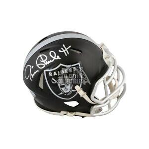Jim Plunkett Autographed Oakland Raiders Blaze Mini Football Helmet - BAS COA
