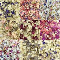 BIODEGRADABLE WEDDING CONFETTI - NATURAL PETALS - DYE FREE FLOWERS - LITRES