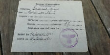 Document allemand occupation ww2 Rosières aux Salines Nancy